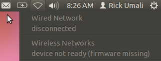 Picture of Wireless Firmware Not Available on Ubuntu